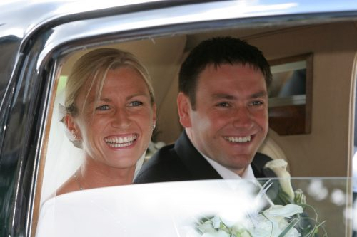 gorgeous couple in our R Type Bentley