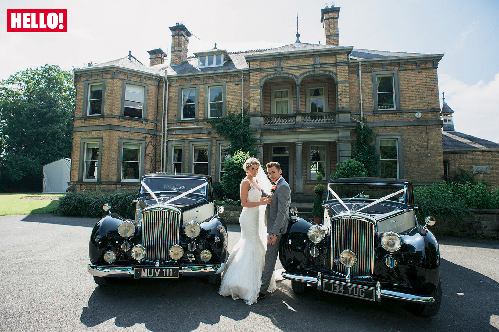 Danny (McFly) and Georgia with our Bentleys on their wedding day in Malton