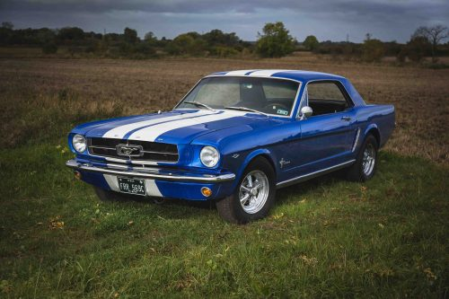 1965-blue-mustang-coupe on Crager wheels