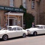 1968-jaguar-mk2-and-matching-daimler-v8-250 at the worsley arms wedding reception