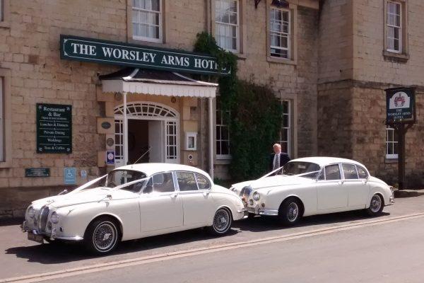 1968 Jaguar Mk2 and 1969 Daimler V8 250