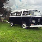 1972-black-vw-camper for weddings in yorkshire