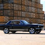 1965- black mustang gt 350-with-crates