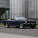 1966 blue Ford Mustang Convertible