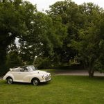 1968 Morris Minor Convertible ready for a yorkshire wedding