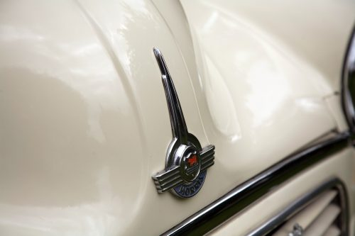 1968 Morris Minor Convertible bonnet badge