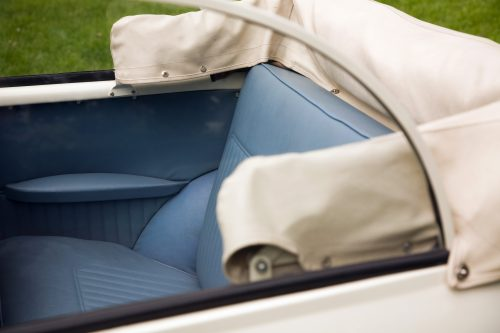 1968 Morris Minor Convertible rear seat