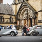 Matching pair of silver Bentleys in York