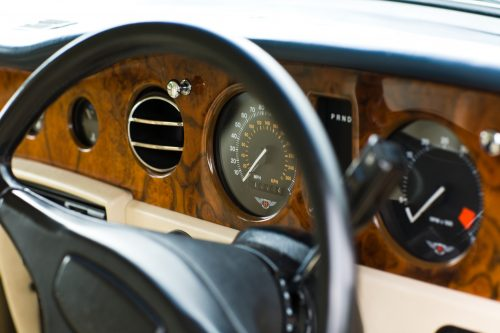 Bentley Eight interior woodwork on dashboard