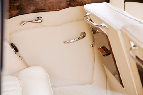 1952 Bentley Freestone and Webb rear passenger interior