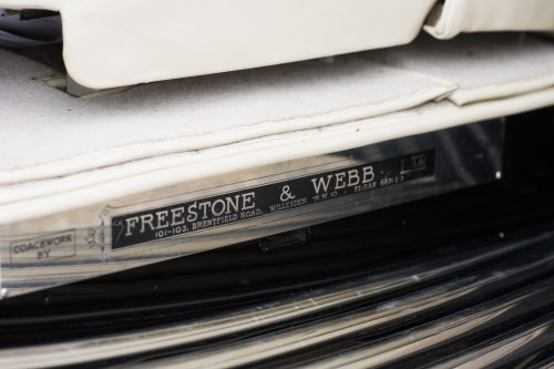 bodywork ID plate - coachwork by Freestone and Webb