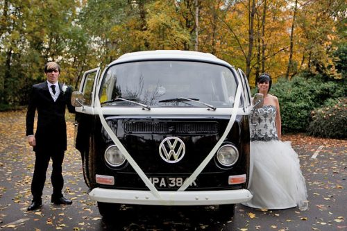 VW Campervan wedding in Yorkshire